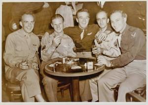 world war II men drinking